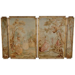 19th Century Suite of Four Tapestries in the 18th Century Taste, circa 1880