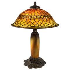 "Tiffany Studios ""Roman"" Table Lamp with Rookwood and Tiffany Base"