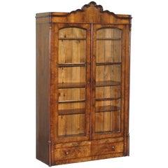 Regency circa 1815 Mahogany Arched Top Bookcase Display Cabinet
