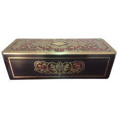 """French Napoleon III """"Boulle"""" Marquetry, Nacre and Gilded Brass Gloves Box"""
