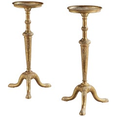 Pair of George I Gilt Gesso Torcheres