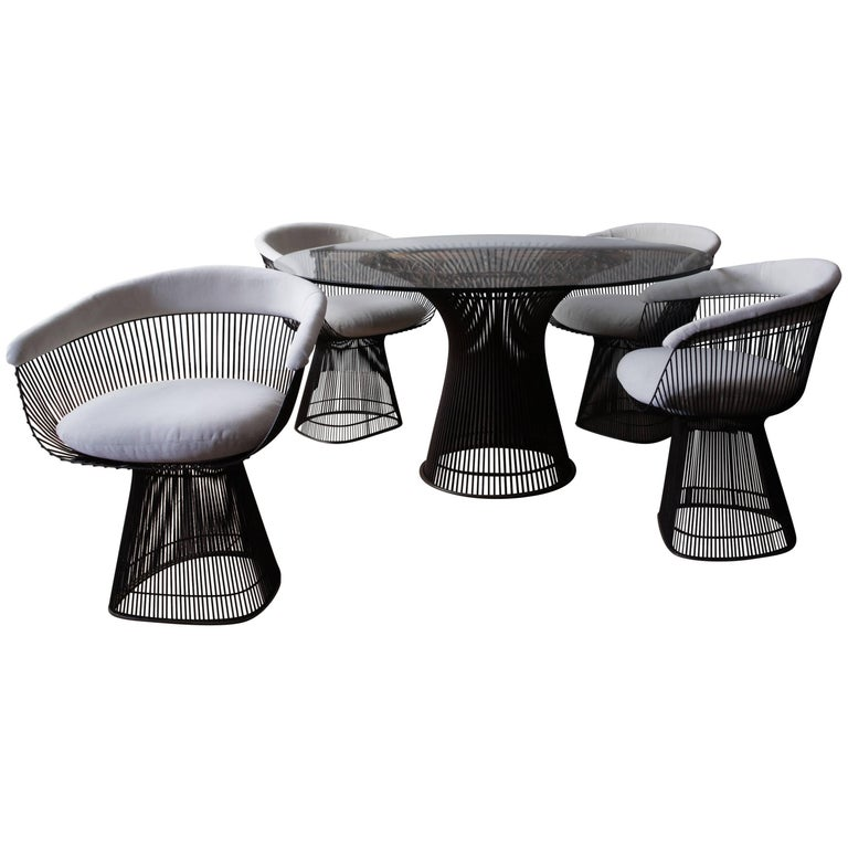 Early Warren Platner for Knoll Dining Table and Chairs