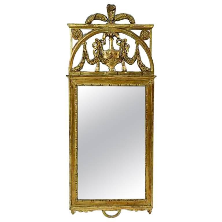 19th Century Scandinavian Giltwood Mirror