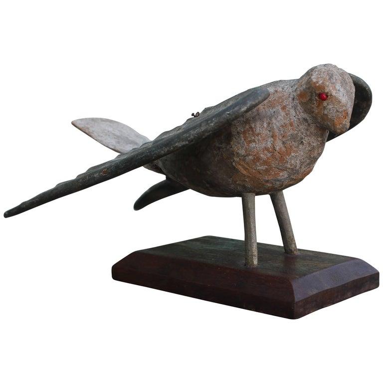 Wonderfully Carved Folk Art Americana Dove Bird
