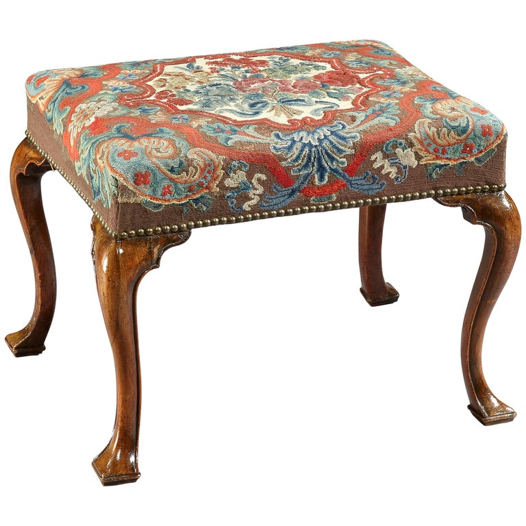 18th Century George I Walnut Stool