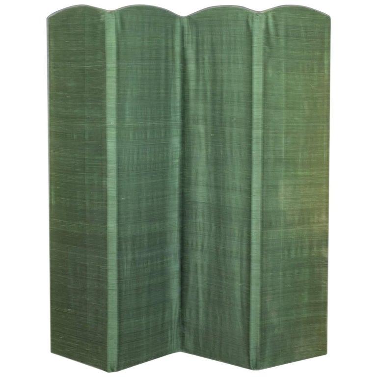 Antique Four Fold Screen, Edwardian, Panel, Room Divider, Photgrapher's Prop
