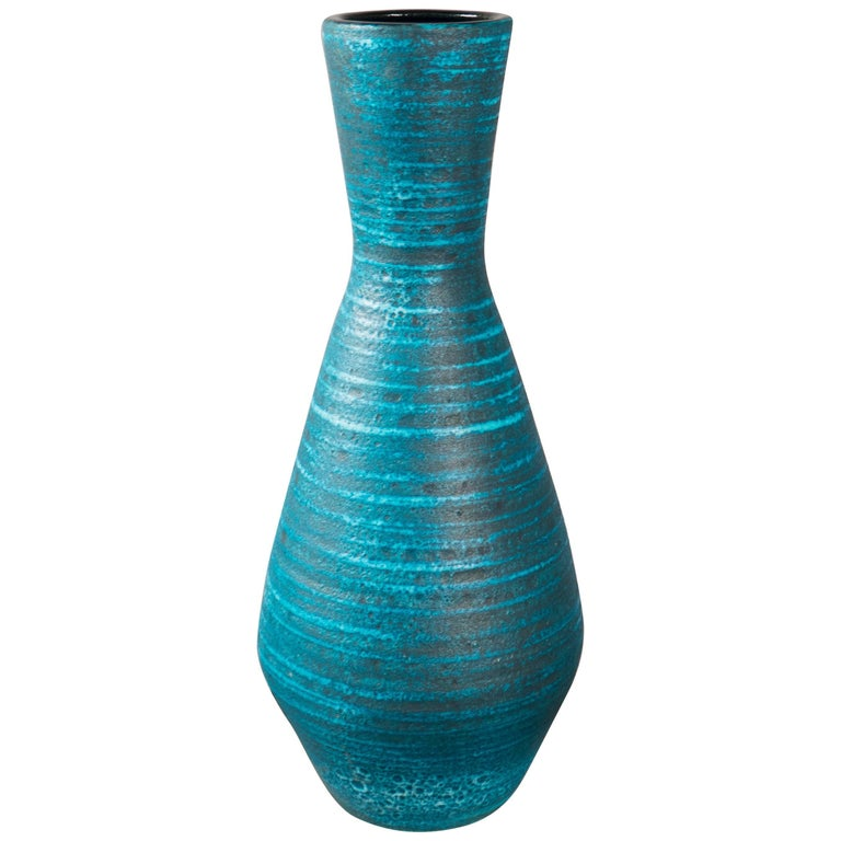 Tall Ceramic Vase by Accolay, France, 1960s
