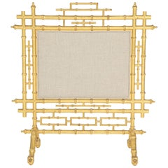 Faux Bamboo Fireplace Screen