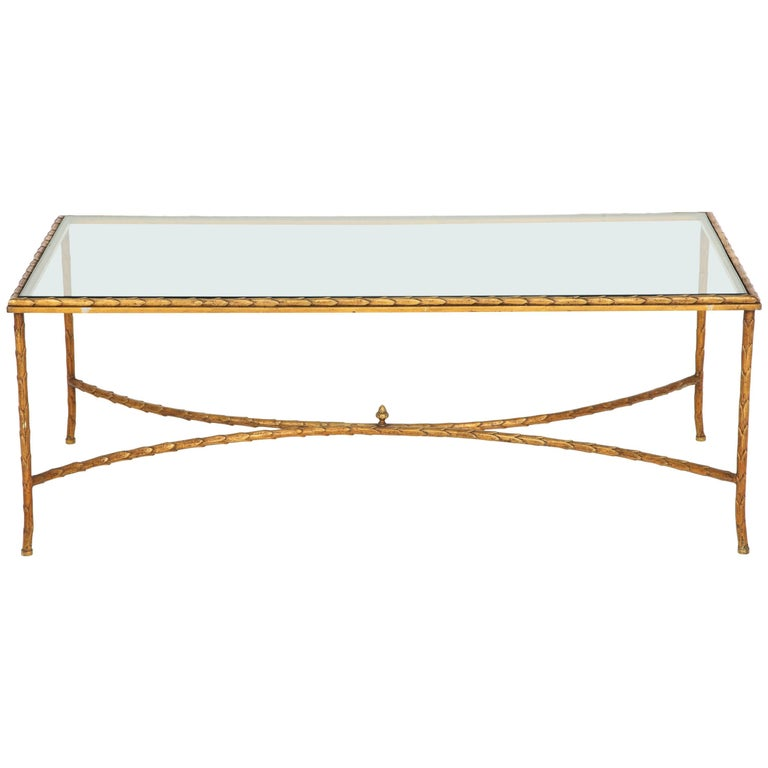 Cocktail Table Attributed to Maison Baguès For Sale
