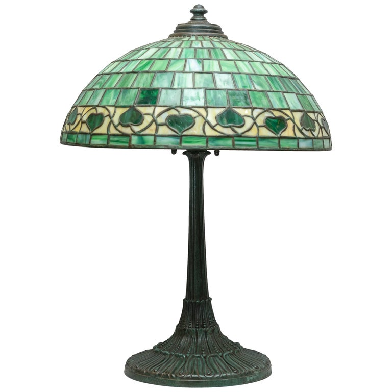 Peony leaded slag glass table lamp 523 by wilkinson for sale at 1stdibs american leaded glass table lamp by wilkinson circa 1910 aloadofball Choice Image