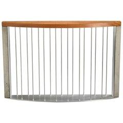 Callisto - Handmade Modern Narrow Hall Table with Metal Rods Concrete and Wood