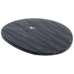Black Cutting Board and Serving Plate Stone Resin Contemporary Style