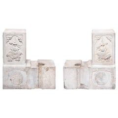 Pair of 19th Century Chinese Carved Entry Posts