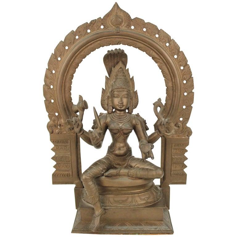 Bronze Statue of Hindu Goddess Kali