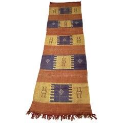 Moroccan Cactus Silk Flat-Weave Kilim Runner Rug