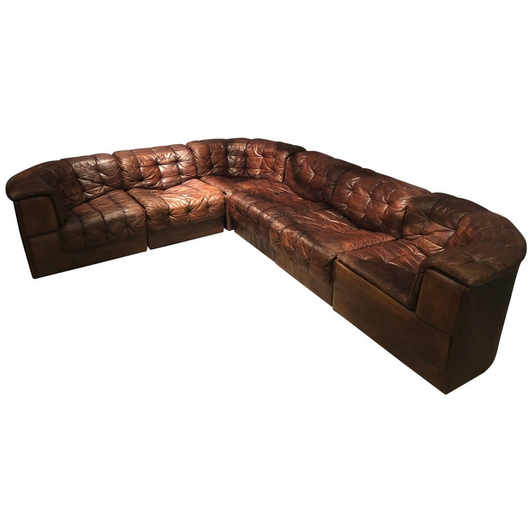 De Sede DS 11 Sectional Sofa For Sale