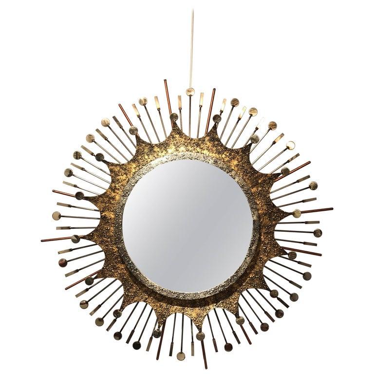 Brutalist Sunburst Mirror by Liger