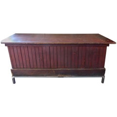1920 General Store Mercantile Cabinet in Original Red Paint
