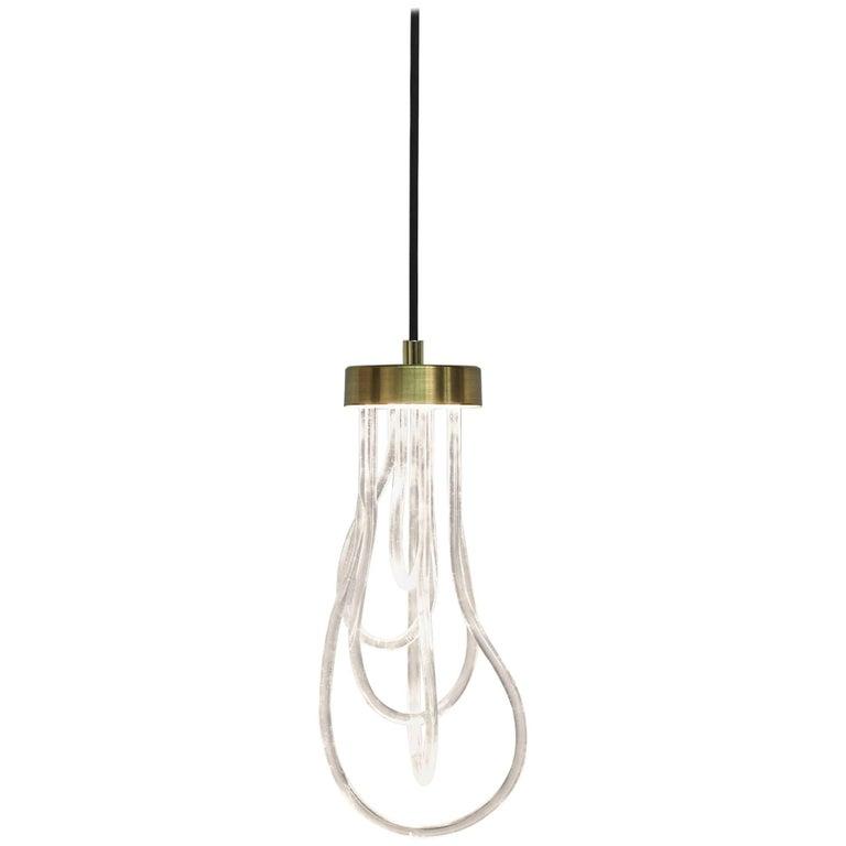 Brass Light Pendant, Cascade