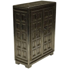 Teak Wood and White Bronze Cupboard