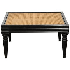 Anglo-Indian Ebonized Ottoman or Side Table