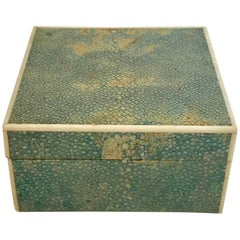 20th Century Art Deco Shagreen Box with Ivory Banding