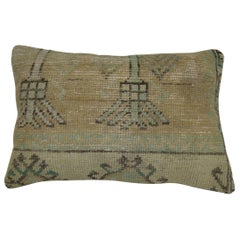 Turkish Oushak Lumbar Rug Pillow