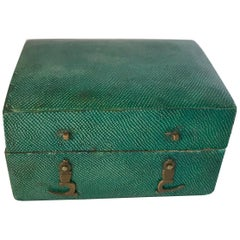18th Century Shagreen Box with Green Leather Interior