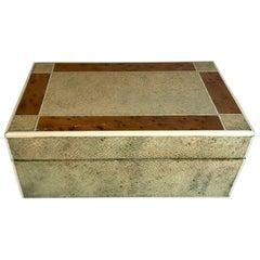 18th Century Shagreen Box with Bone and Bird's-Eye Maple Trim