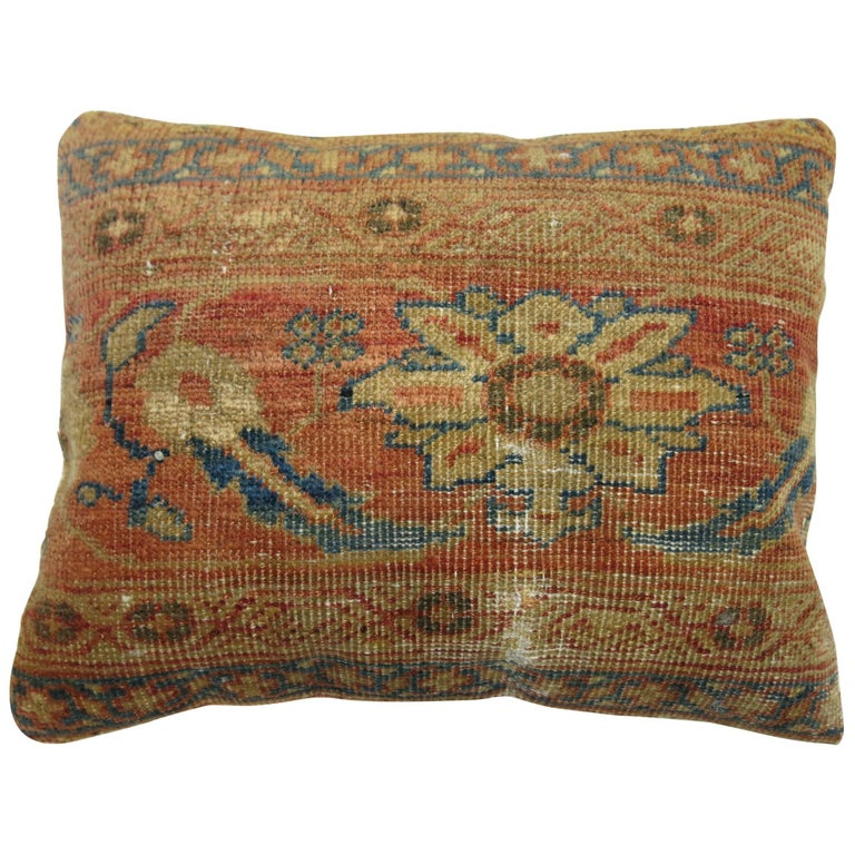 Antique Persian Mahal Rug Pillow