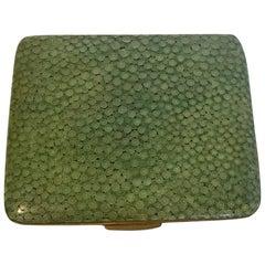 18th Century English Green Shagreen Card Holder