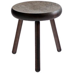 Dibbet Stool in Oxidized Oak