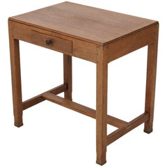 Oak Art Deco Haagse School Writing Table by Paul Bromberg for H.P. Pander, 1920s