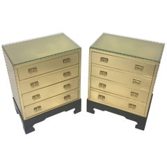Pair of Sarreid Style Brass-Clad Chests or End Tables, circa 1970s