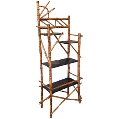 "19th Century English ""Japonisme"" Bamboo Etagere"