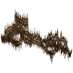 Brutalist Mid-Century Modern Wall Sculpture