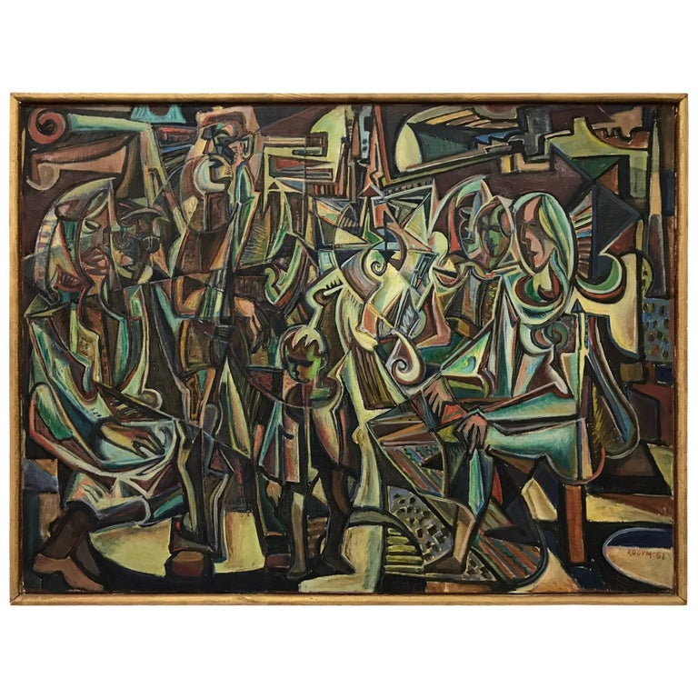 """Oil painting picture from Jiří Kodym, named Life, """"1968"""""""