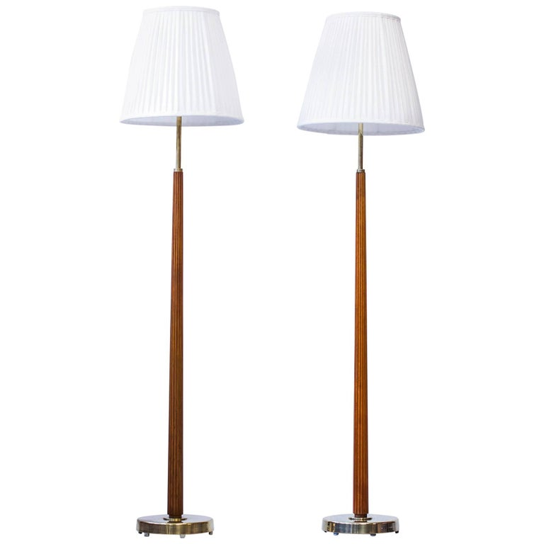 Floor Lamps Model 522 by Hans Bergström, Sweden, 1940s