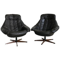 "Pair of Vintage ""Silhouette"" Lounge Chairs by H.W. Klein for Bramin Mobler 1960s"