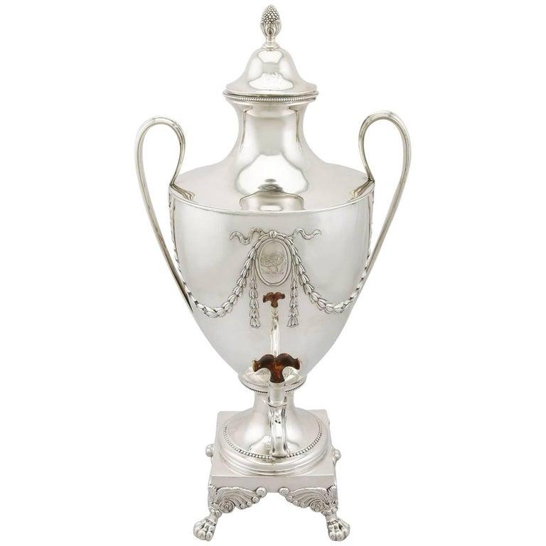 1700s Georgian Sterling Silver Samovar