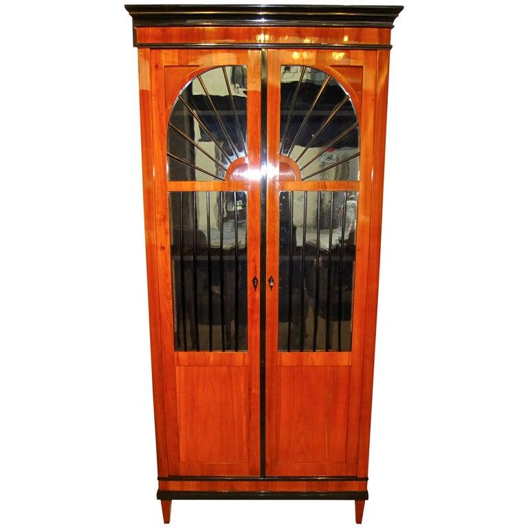 Biedermeier Vitrine/Bookcase, Cherry, South Germany circa 1820