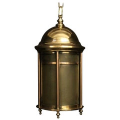 English 19th Century Bronze Exterior Antique Lantern