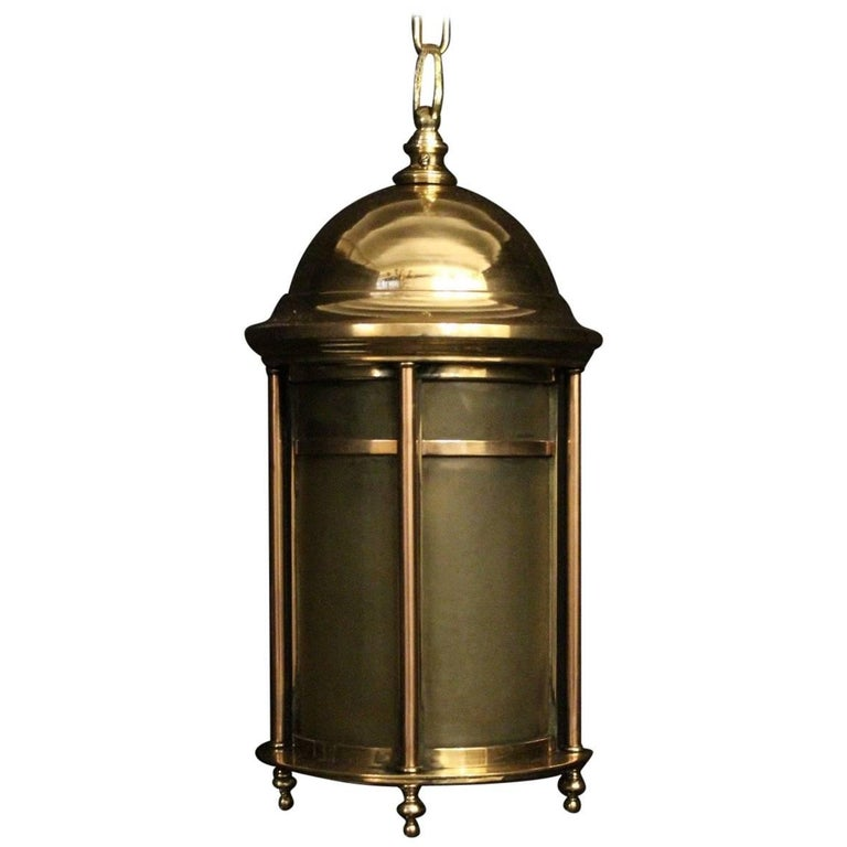 English 19th Century Bronze Exterior Antique Lantern
