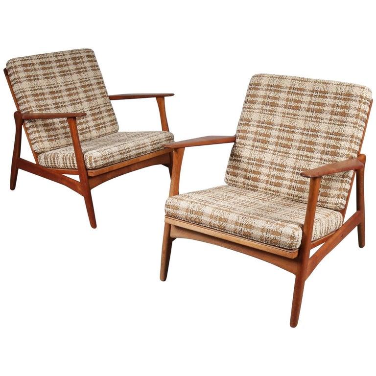 Arne Hovmand Olsen Lounge Chairs for Mogens Kold, Denmark, 1950