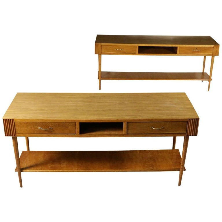 Pair of Counters Durmast Formica Top Vintage, Italy, 1950s