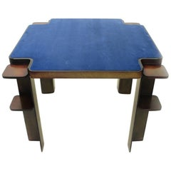 Wooden Square Game Table by Cini & Nils, 1970s