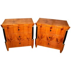 Pair of Biedermeier Commodes, Germany 19th century