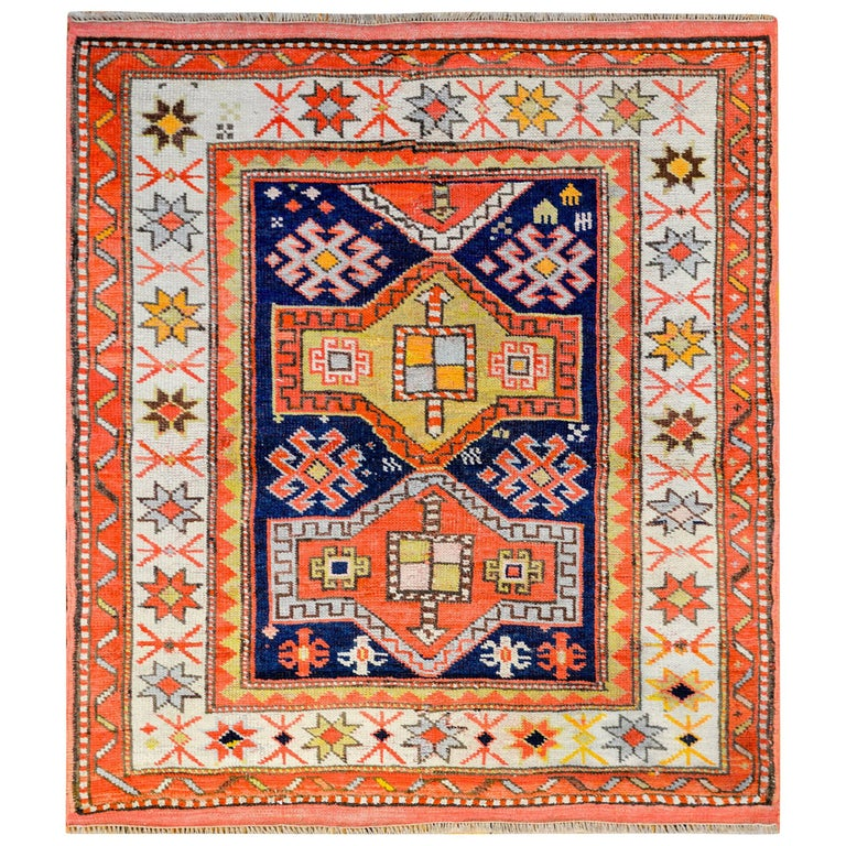 Antique 19th Century Kazak Rug