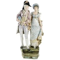 Ceramic Couple Representing Two Incredibles, circa 1900