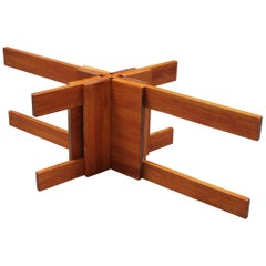 Coffee Table Wooden Base of Modern Design and Craftmanship